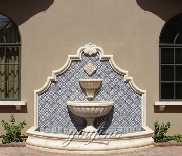 Outdoor tiered design garden wall fountains for sale