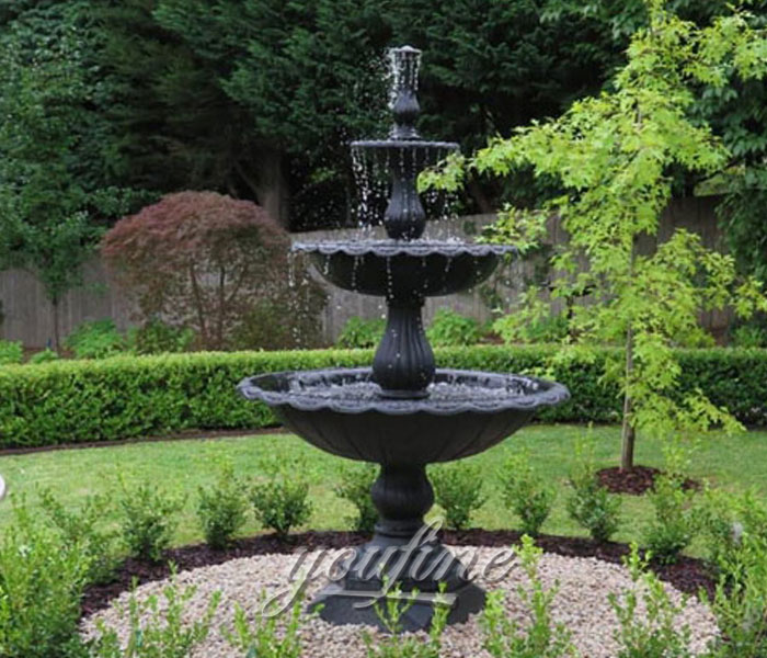 Black marble garden tiered water fountains for saleBlack marble garden tiered water fountains for sale