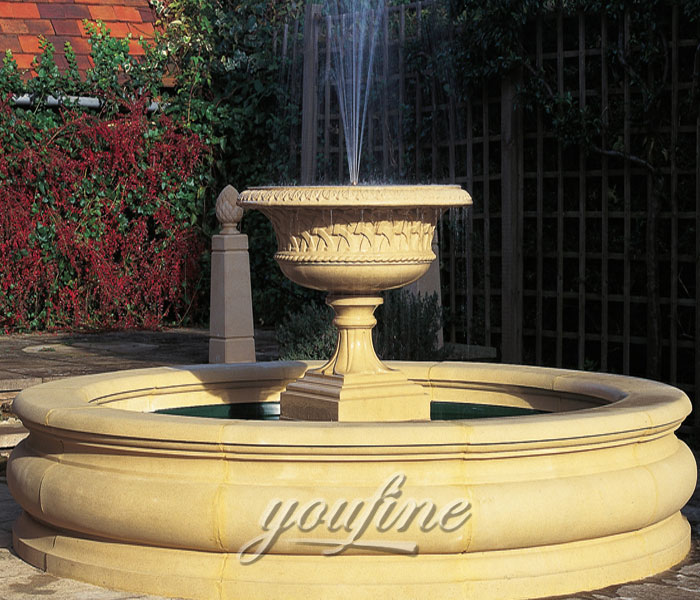 Indoor natural stone flower pot water fountain for sale