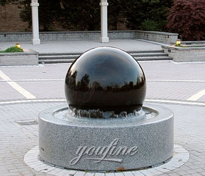 Outdoor water garden casting granite stone ball fountains for hotel on sale