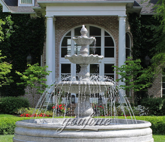 Outdoor Large Tiered Natural Marble Water Fountains For Garden