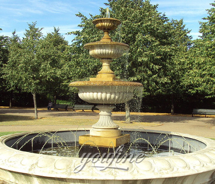 Hot selling 3 tiers marble water fountain for hotel decor