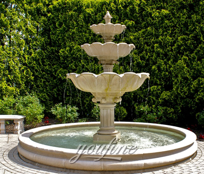 Hot selling classical tiered marble stone waterfall fountain for hotel on sale