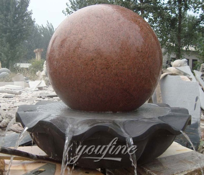 Outdoor classical rotating ball water fountains design for sale