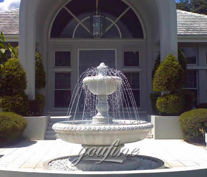Indoor stone tiered water fountain for home decor