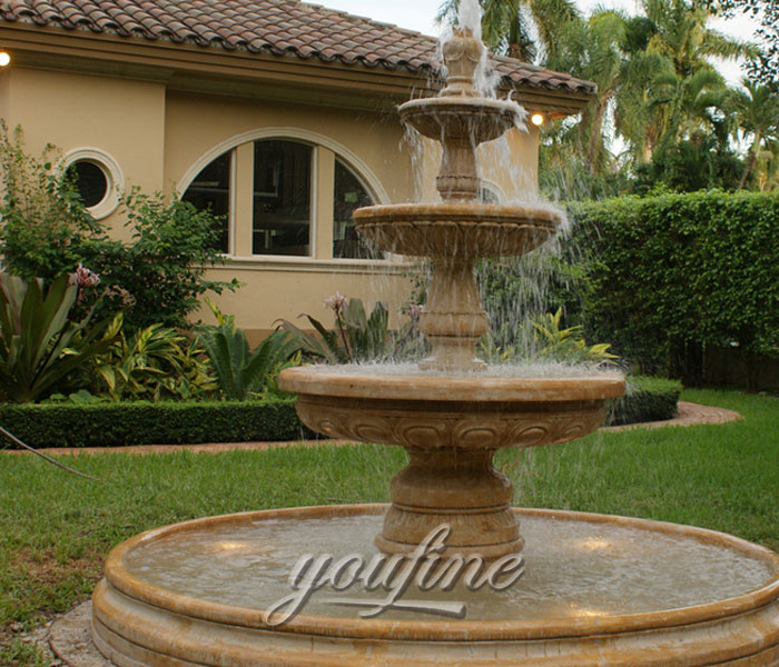 Stone Outdoor 3 tiers water yard fountainStone Outdoor 3 tiers water yard fountain
