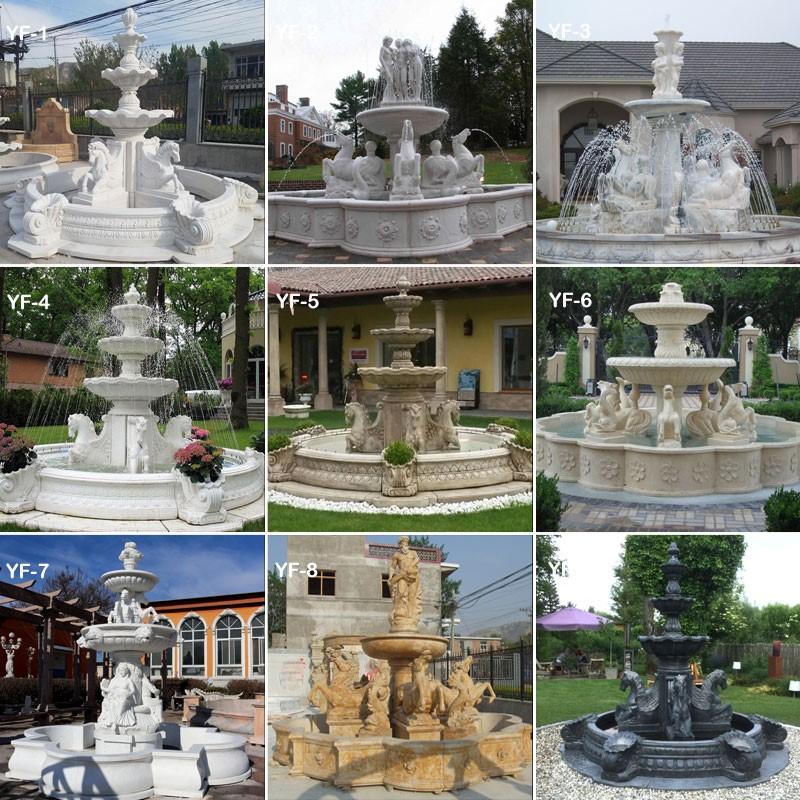 Fountain in home garden