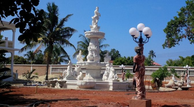 Large Outdoor Marble Fountain to Tanzania