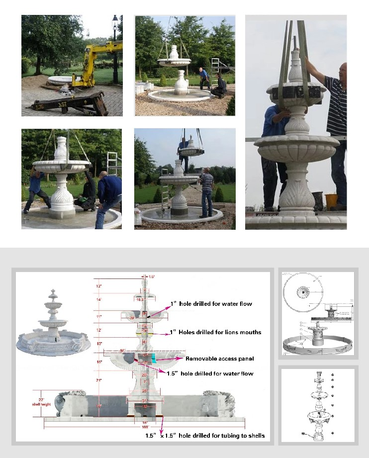 Professional designers and installation teams guarantee the installation of fountains in an all-round way