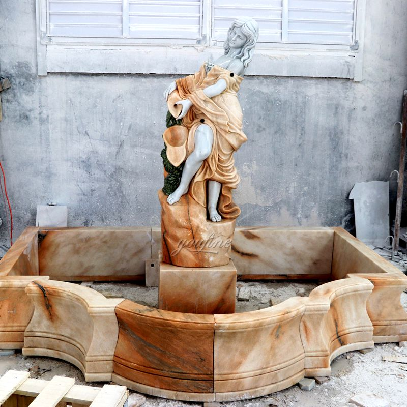 Marble Color Matching Character Fountain
