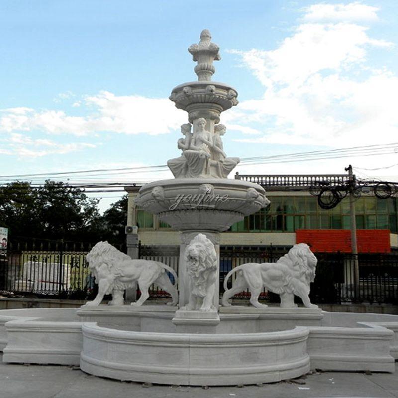 Outdoor Garden Decoration Marble Animal Fountain for Sale MOKK-03
