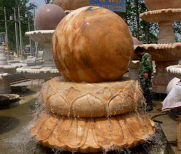 Online Marble Fountain Stone Rolling Ball Fountain for Sale MOKK-88