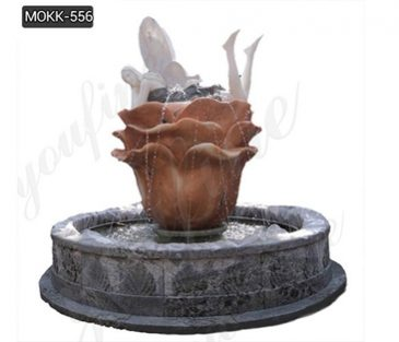 Beautiful Marble Carved Garden Water Fountain with Lady Design for Sale MOKK-556
