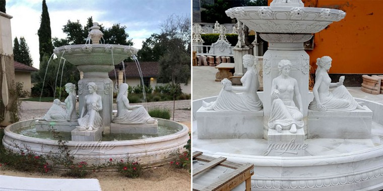 Front Yard Tiered Water Marble Fountain Story