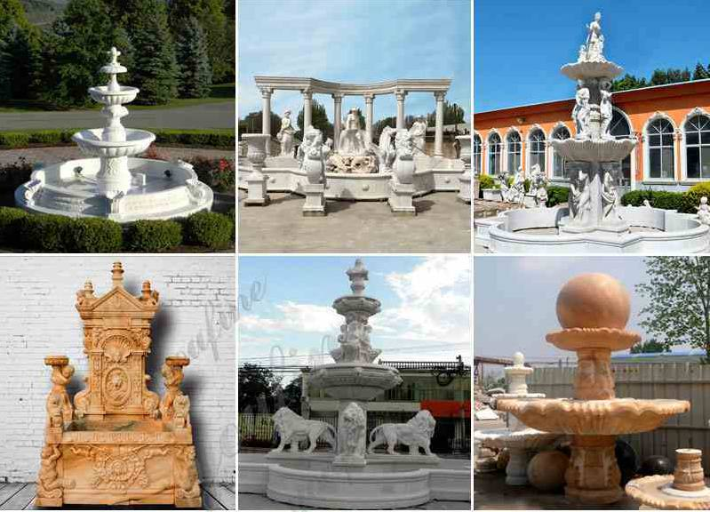Marble Carved Garden Water Fountain Usage