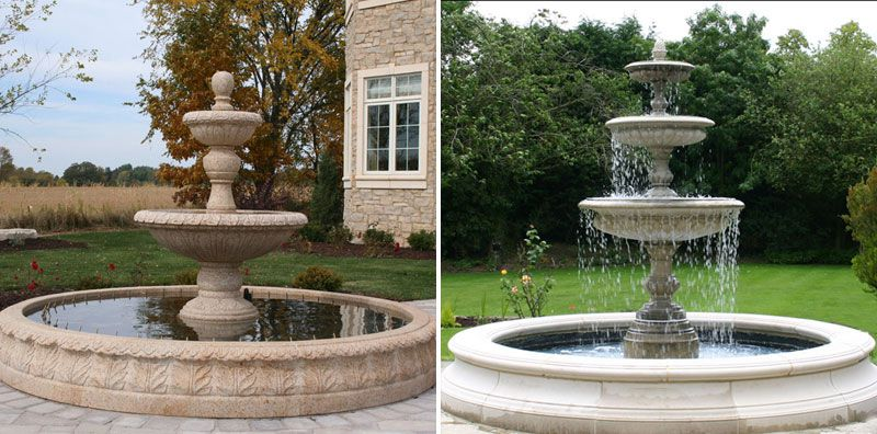 Beautiful Natural Stone Carved Marble Lady Water Fountain Garden Decoration Other Design