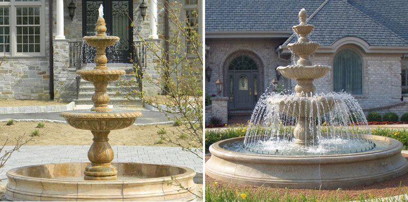 Beautiful Natural Stone Carved Marble Lady Water Fountain Garden Decoration for sale