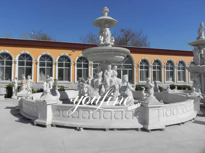 Large Outdoor Tiered Marble Horse Water Fountain for Sale Factory