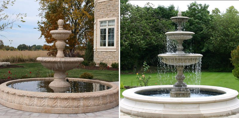 Tiered Large Outdoor Marble Lady Fountain with Child Design for Sale Other Designs