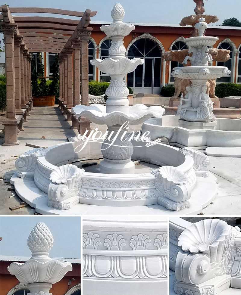 Cheap Simple 3 Tiered Marble Water Fountain Garden Decor for Sale Details