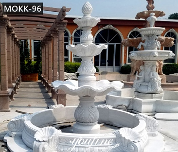 Cheap Simple 3 Tiered Marble Water Fountain Garden Decor for Sale MOKK-96