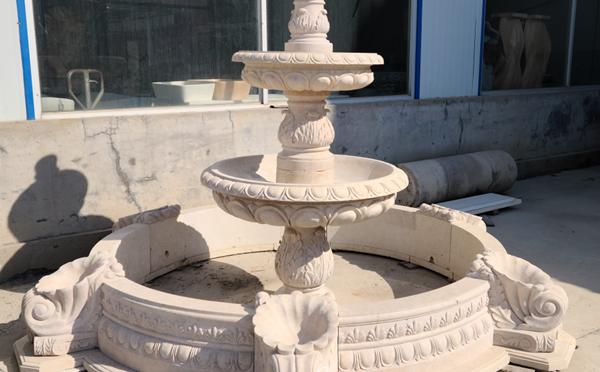 Simple 3-tier marble fountain Garden Decor for Sale MF-02