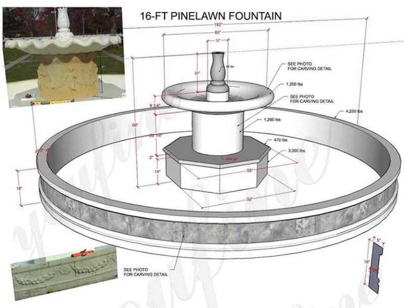 Small Cheap White Marble Fountain for Garden Installation Guidance