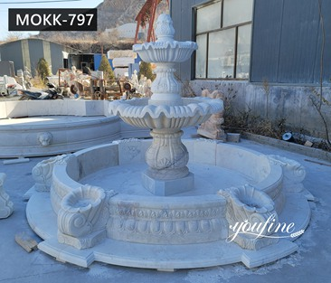 Small Cheap White Marble Fountain for Garden MOKK-797