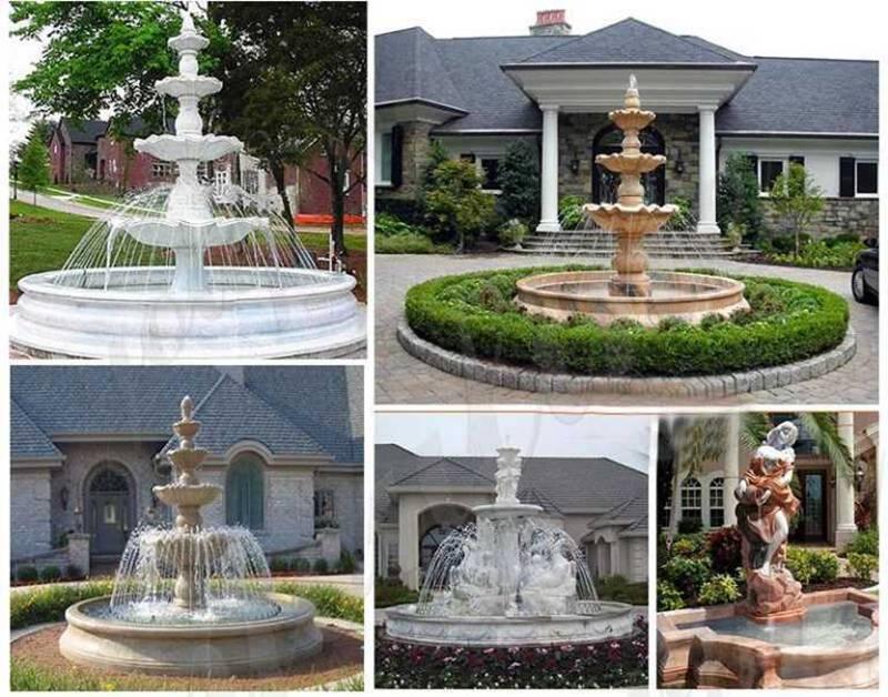 Small Cheap White Marble Fountain for Garden More Designs