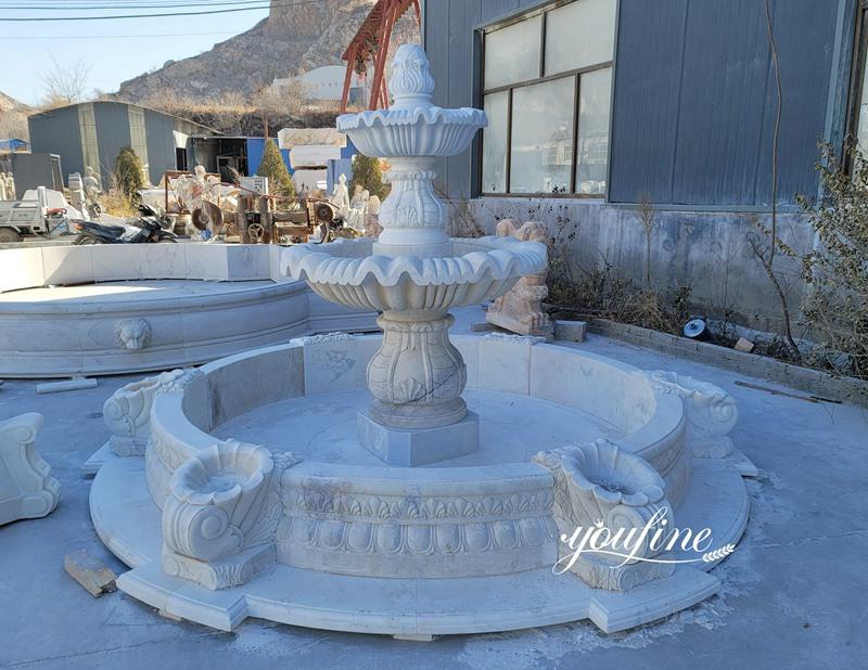 Small cheap white marble fountain for garden