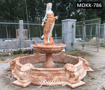 Large Outdoor Marble Fountain with Lady Statue for Sale MOKK-786