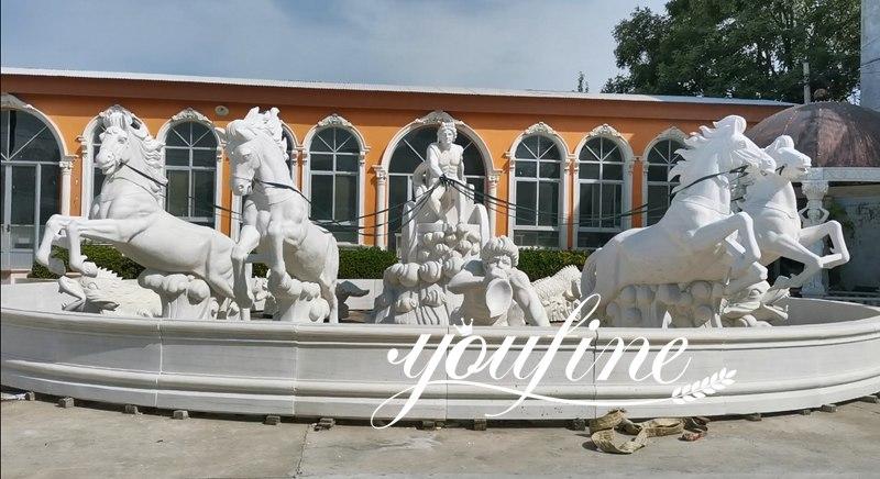 Large Poseidon Trevi fountain Marble Statue for Campus MOKK-807