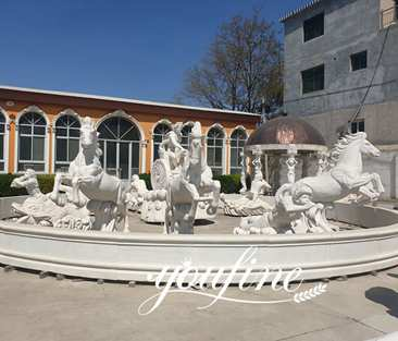 Large Poseidon Trevi fountain Marble Statue for Campus