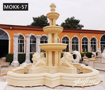 Three Tiered Antique Marble Lion Fountain for Sale