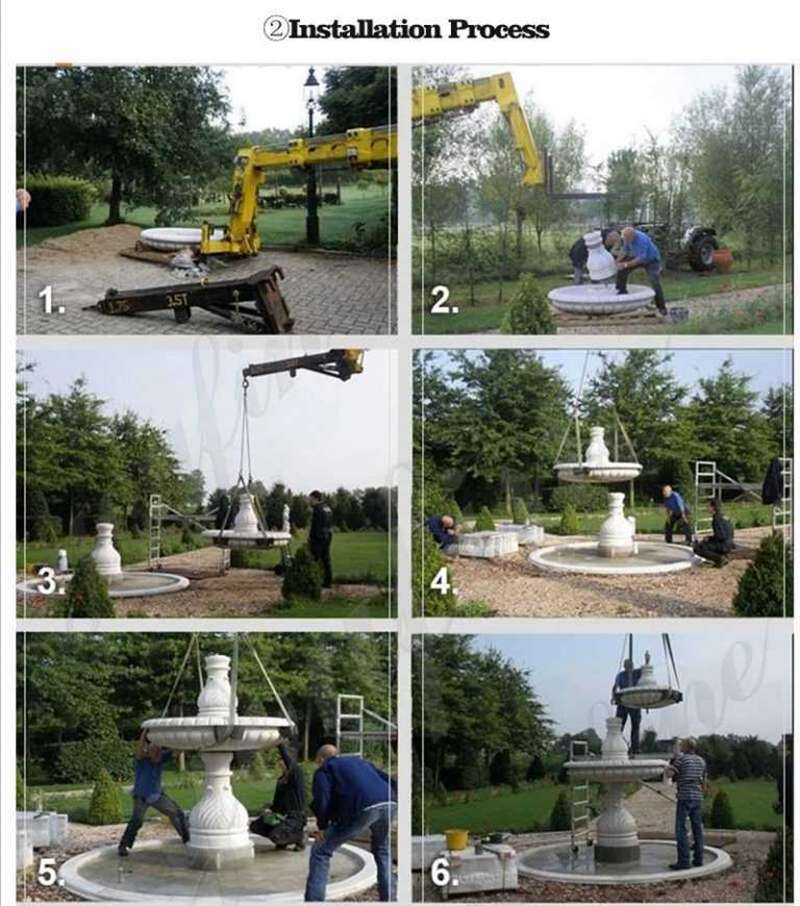 3 Tiered Mable Water Fountain for Home Garden Wholesale