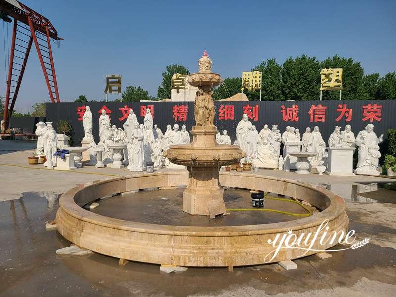 Outdoor Garden Tiered Marble Figure Fountain Online for Sale MOKK-815