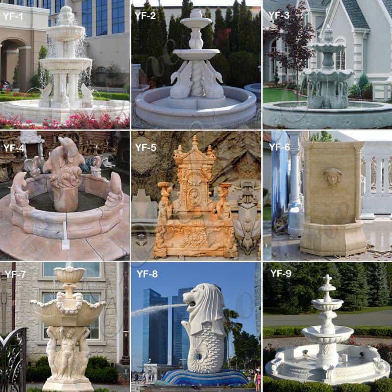 Tiered Marble Water Fountain