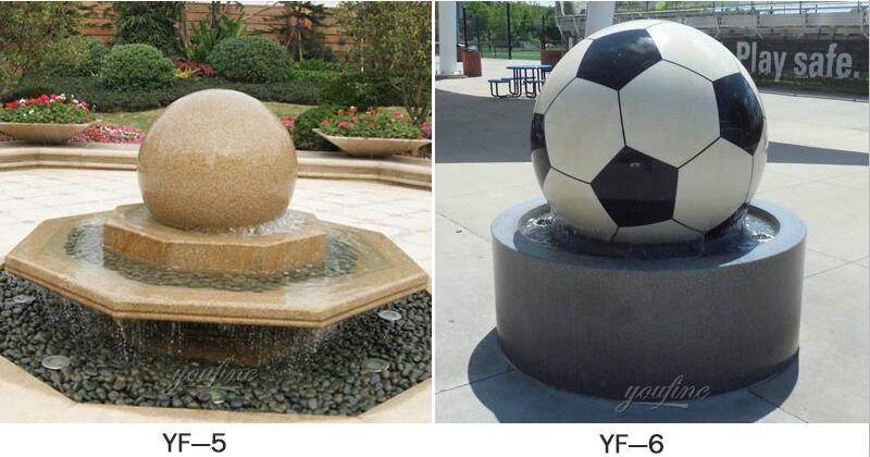 sphere water fountain outdoor