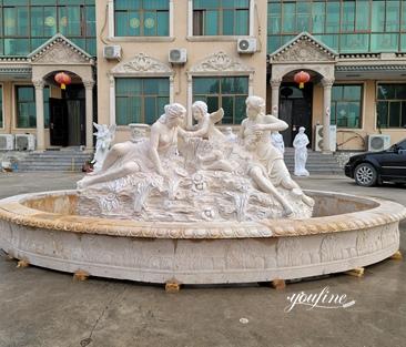 Handmade Figure Garden Marble Fountain for Sale MOKK-827