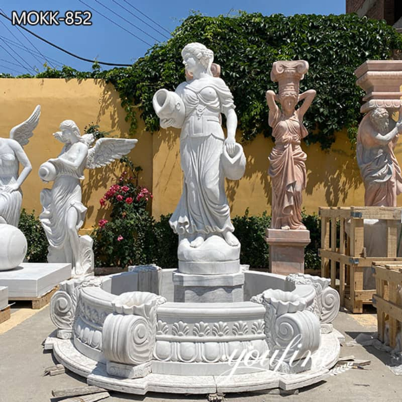 Natural Marble White Garden Statue Fountain from Factory Supply MOKK-852