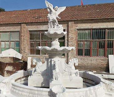 Natural White Marble Fountain Garden Decor for Sale MOKK-584